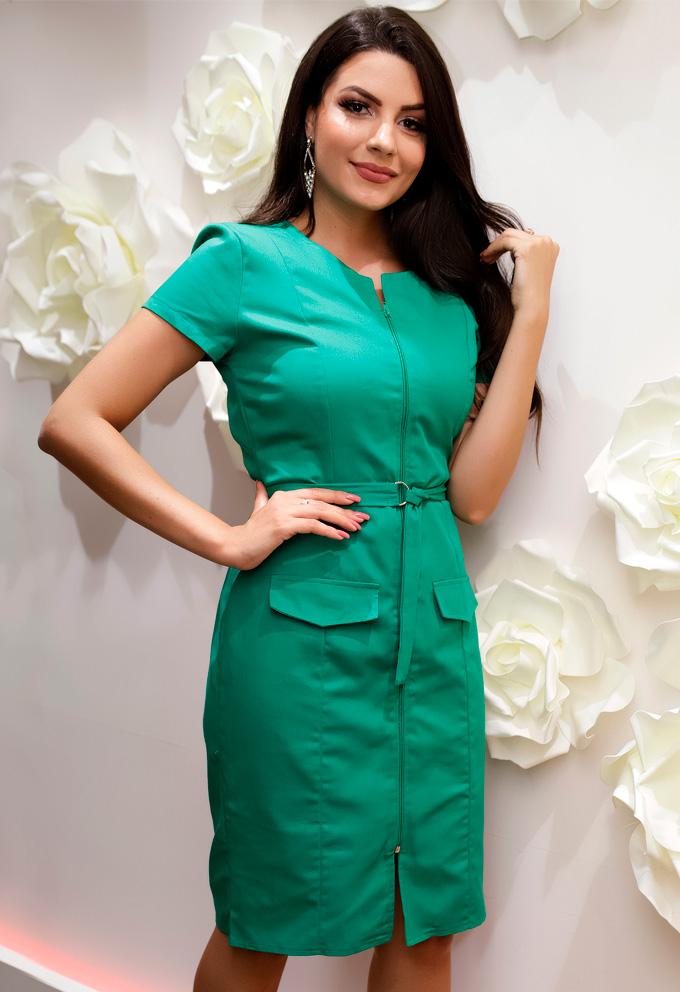 Vestido-verde-em-sarja-rebeca-ferrari