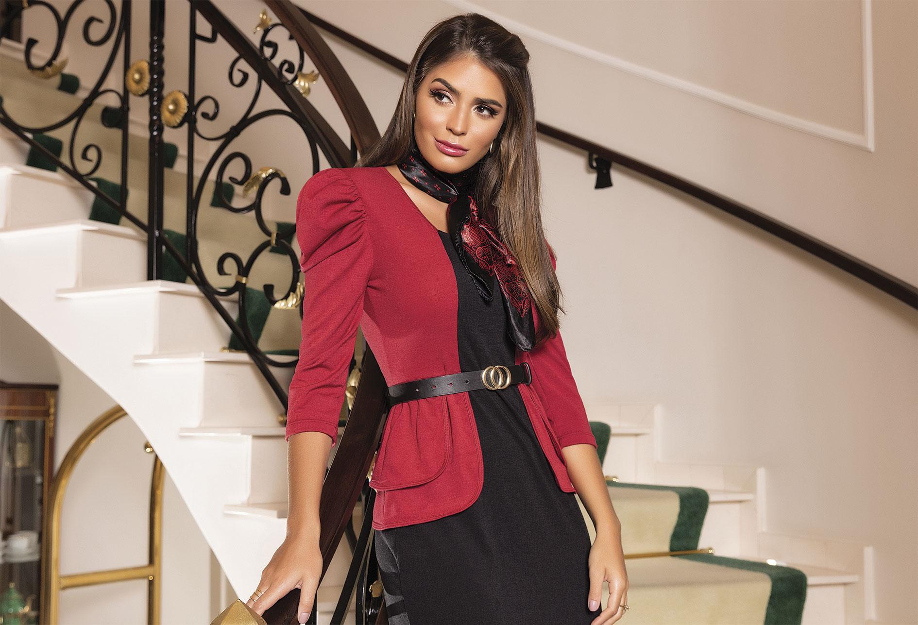 vestido vermelho preto moda evangelica